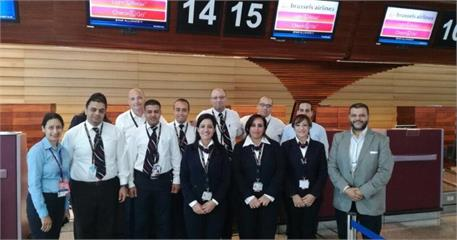 Hurghada Airport celebrates the arrival of Brussels Airlines  first flights